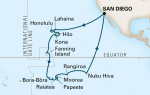 2014 Hawaii-Polynesia cruise route map