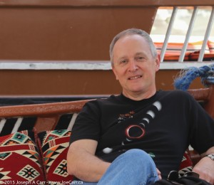 Joe relaxing on a dhow in Oman