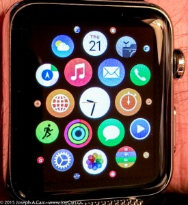 Apps displayed on my Apple Watch