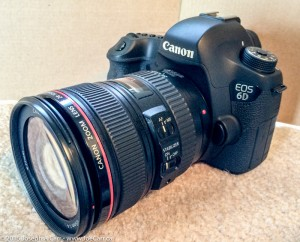 Canon 6D digital SLR with Canon 24-105 f/4L zoom lens