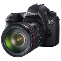 Canon 6D dSLR and lens
