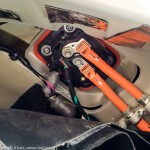 Recharge port from the inside - Tesla Model S repair at my home