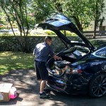 Tesla tech & his Model S - Tesla Model S repair at my home