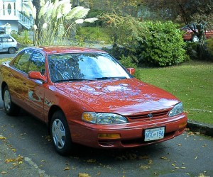 1995 Red Toyoyta Camry