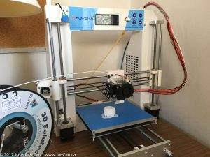 Printing a 3D model with a JGAURORA 3D printer - i3 Prusa design
