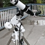 Lunt Ha solar telescope mounted on HEQ5 tracking mount