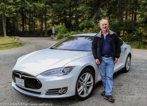 Joe & his Tesla Model S at Sooke Potholes Park