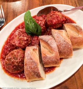 Polpette della Casa - meatballs, shaved parmigiano, house bread
