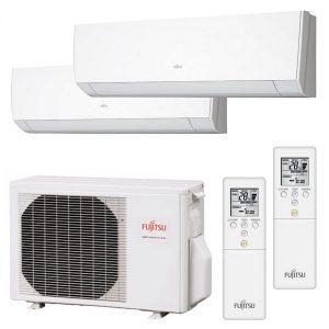 Fujitsu Dual-split heat pump components