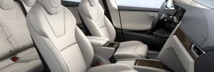 Cream Interior - 2017 Tesla Model S 75D