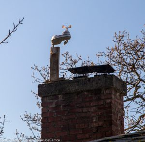 AcuRite 5-in-1 weather station atop my chimney