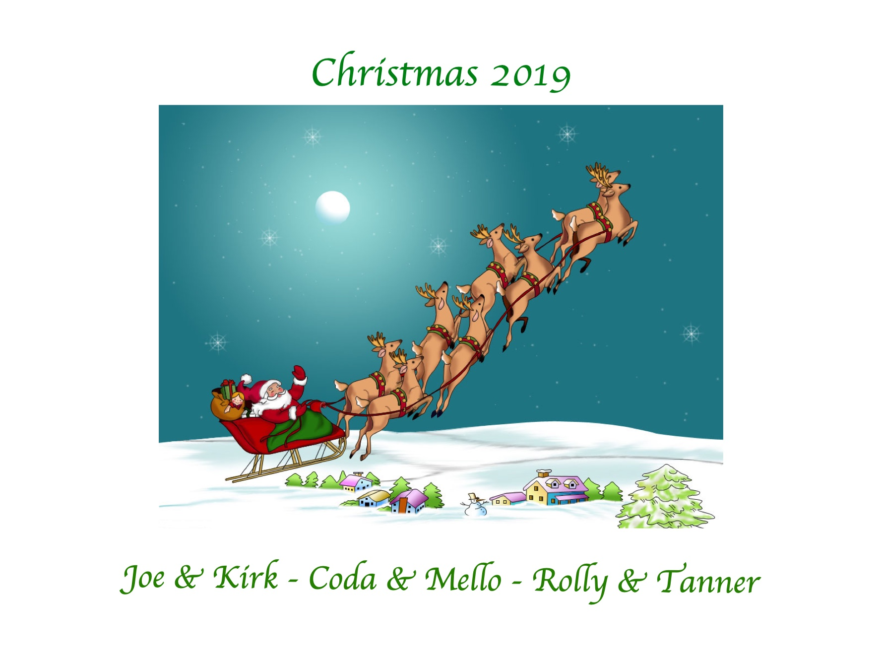 2019 Christmas card - Joe