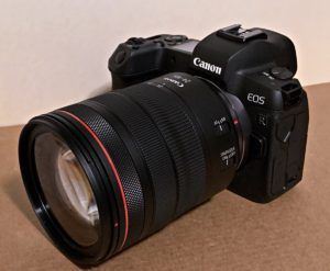 Canon EOS R mirrorless camera with RF 24-105 f/4 L zoom